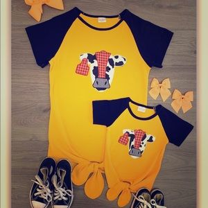 Adult mustard cow top